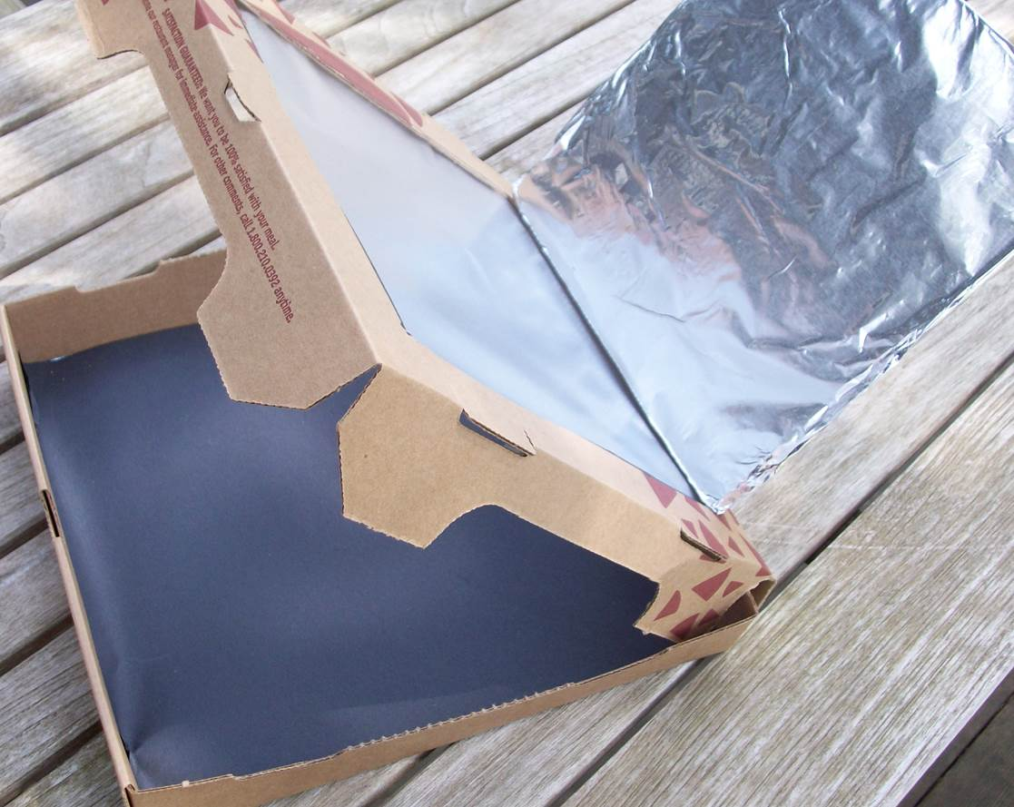 pizza box wrapped in aluminum foil & Making a Solar Oven with Students Who Are Blind or Visually ... Aboutintivar.Com
