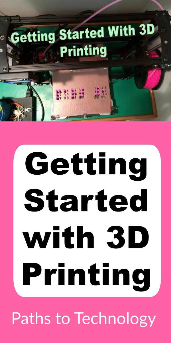 Collage of getting started with 3D printing