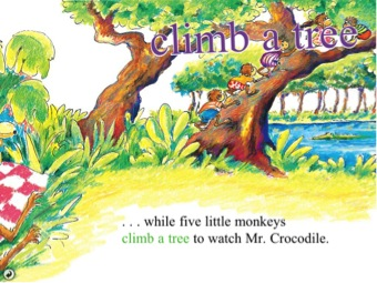 Five little monkeys climb a Tree