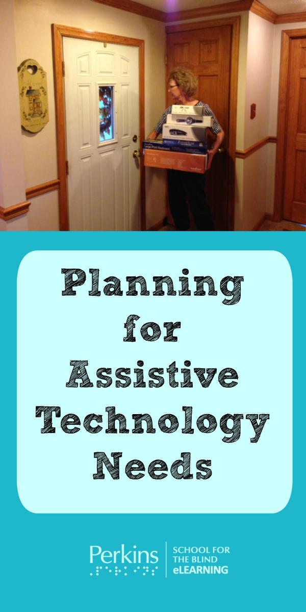Pinterest collage of assistive technology needs