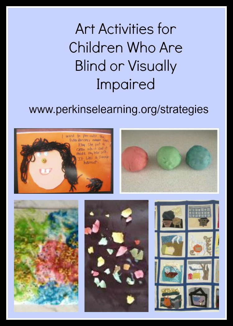 Art activities for kids who are blind