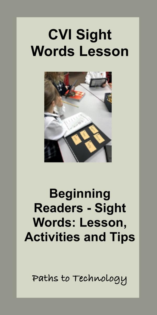CVI Sight Words Pinterest tag