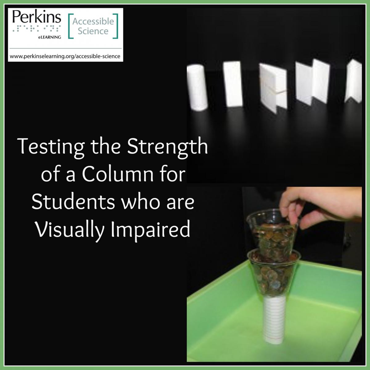 Testing strength of a column collage
