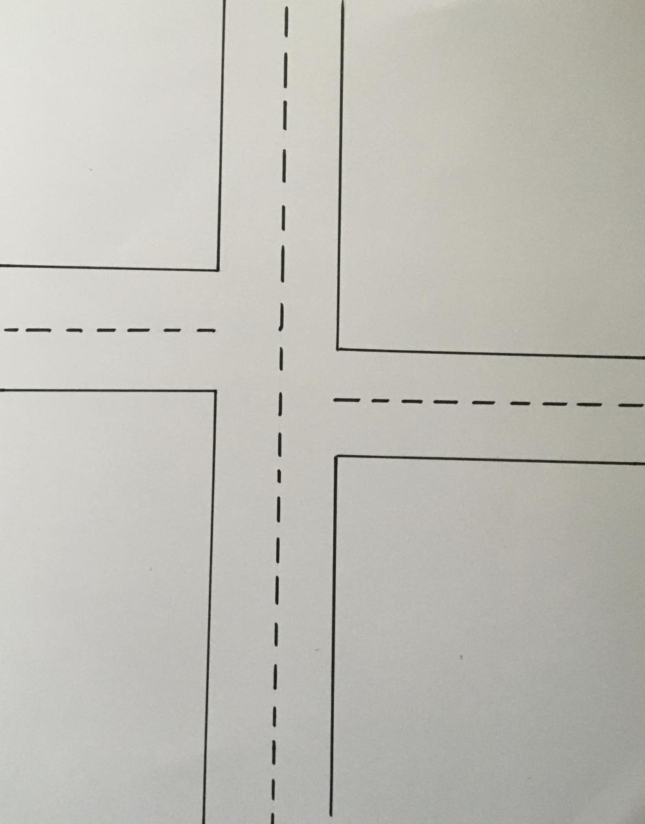 Print map of off-set intersection.