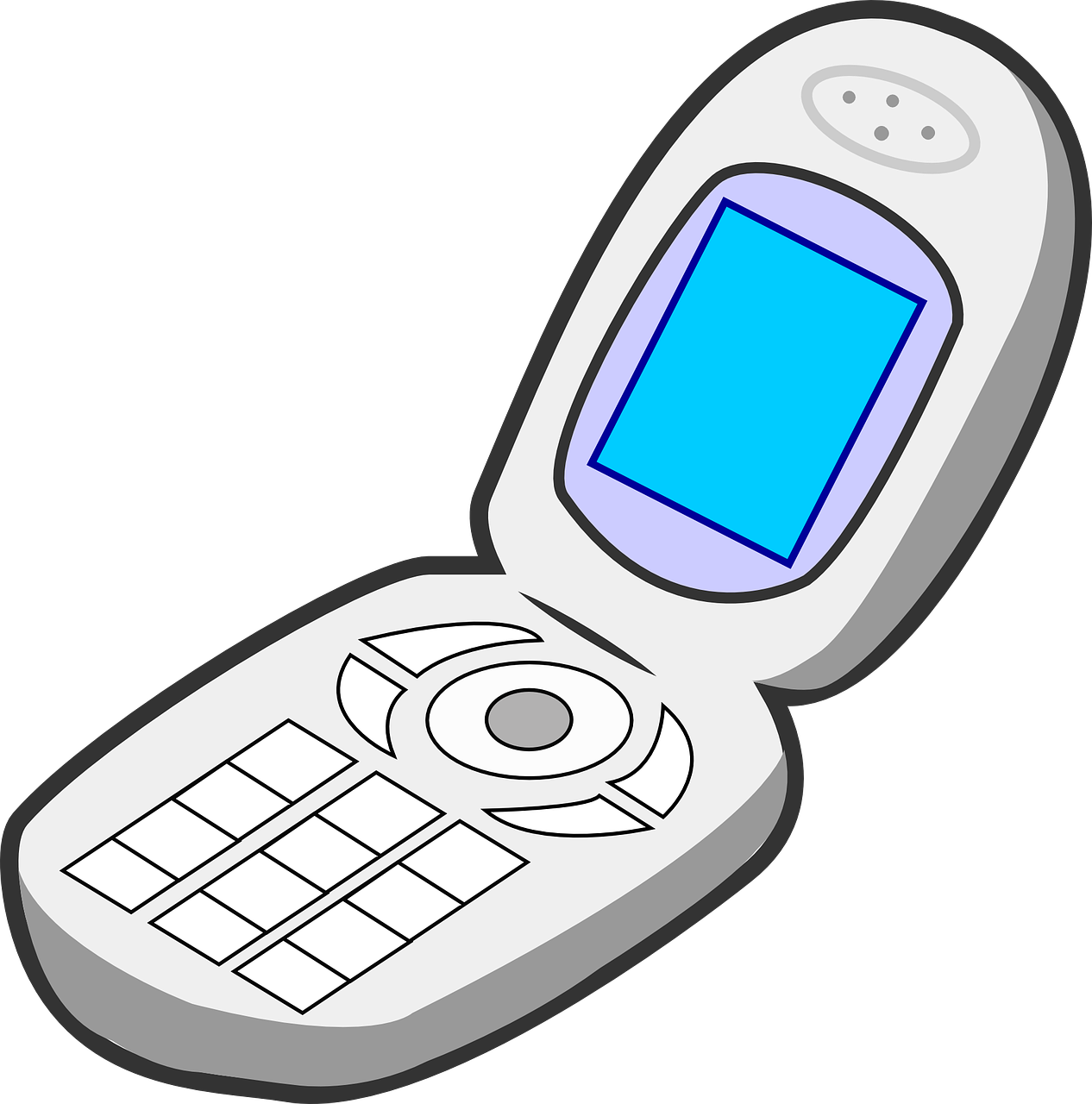 Flip phones for the Visually impaired are still relevant ...Old Cell Phone Clip Art