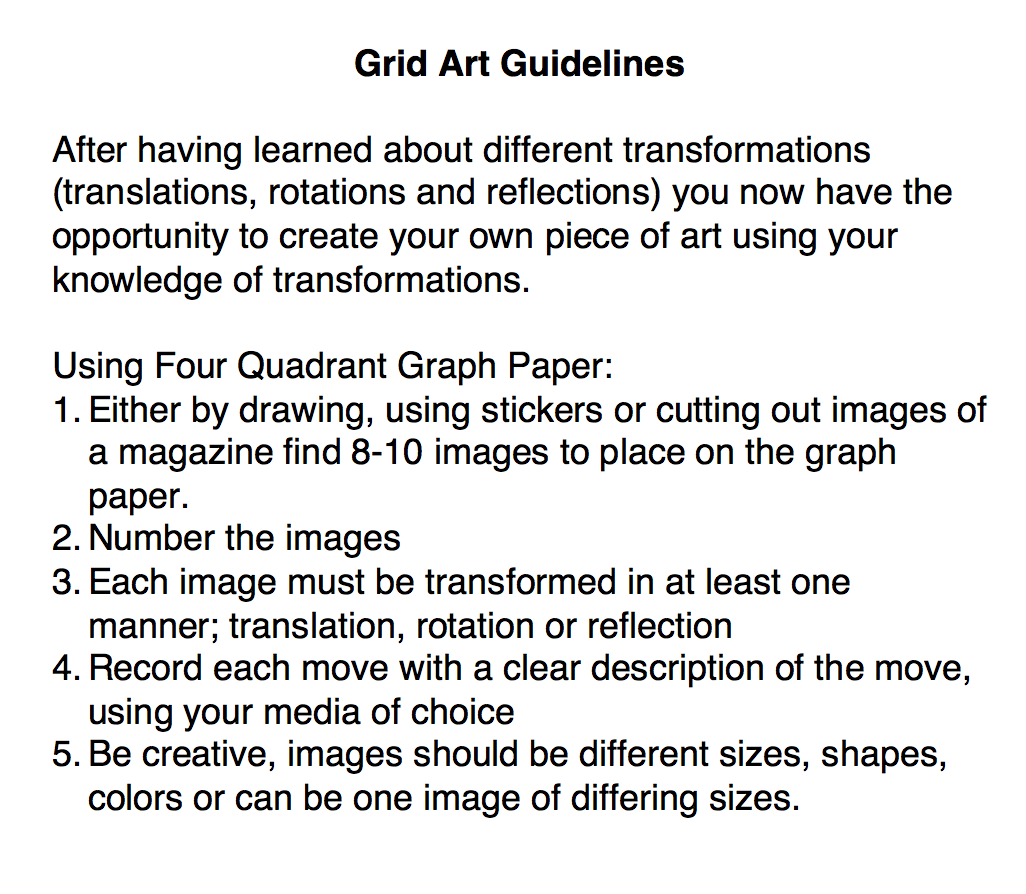 Grid Arts Guidelines