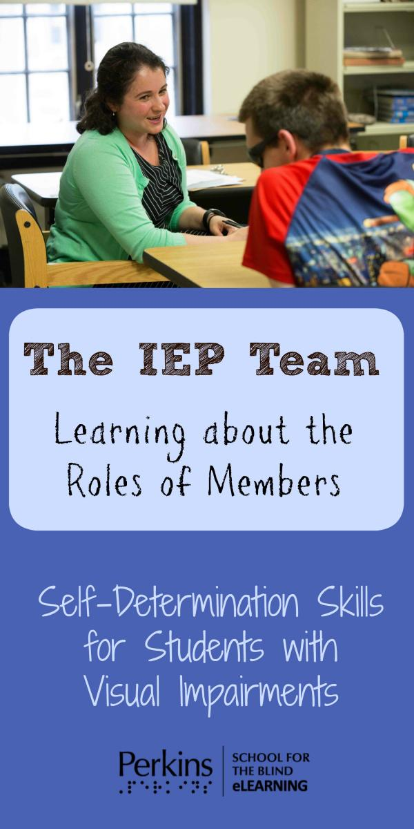 Collage of learning about members of IEP team