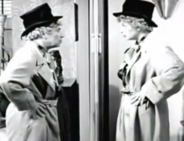 Harpo and Lucy on I Love Lucy episode