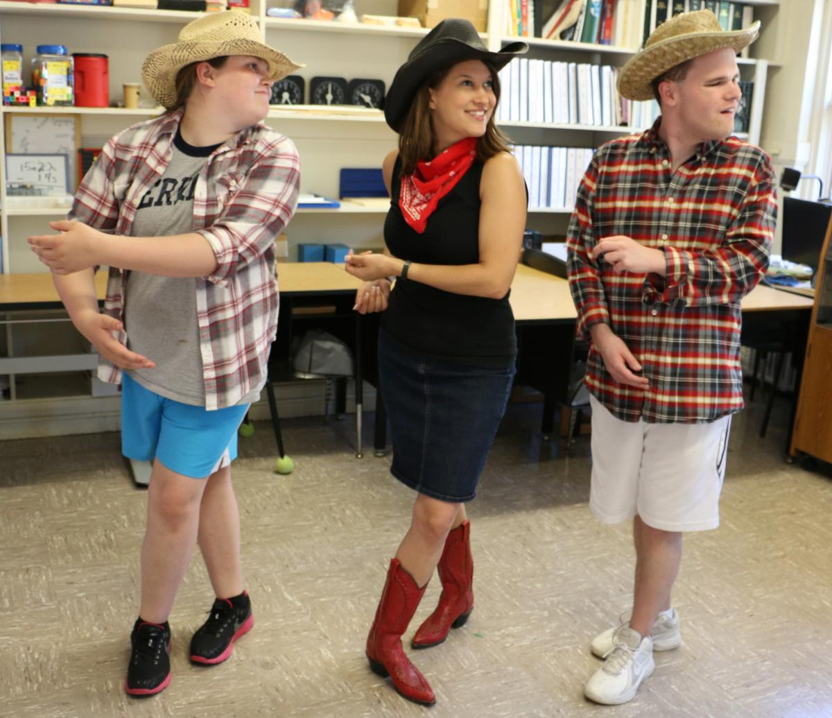 students square dancing