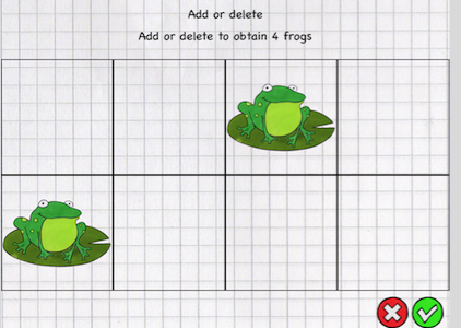 Sequencing screenshot with 4x2 grid with two frogs.