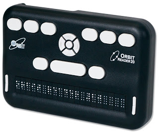 Orbit Reader, a soon-to-be-released low cost braille display.