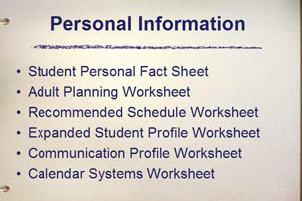 The Personal Information Component.