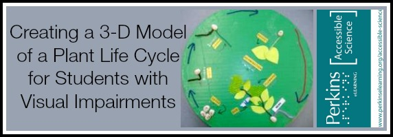 collage with 3-D model of a plant life cycle