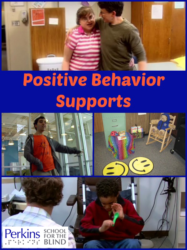 A collage of images of positive behavior supports.