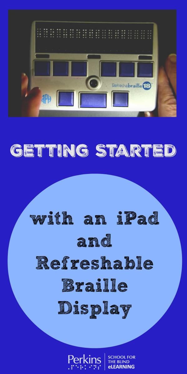 Pinterest collage for iPad and Refreshable Braille Display
