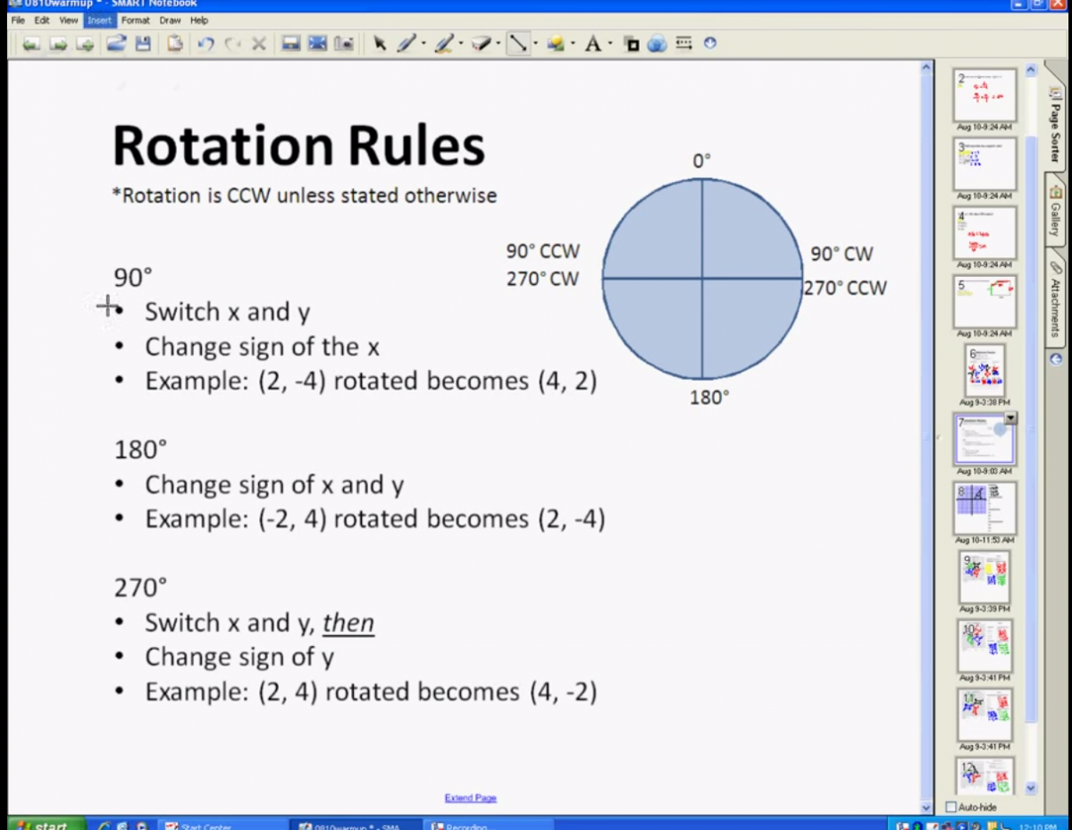 Rotation Rules You Tube video