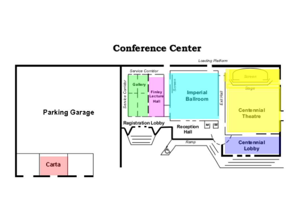 SOMA Conference map with low opacity; original text shows through.