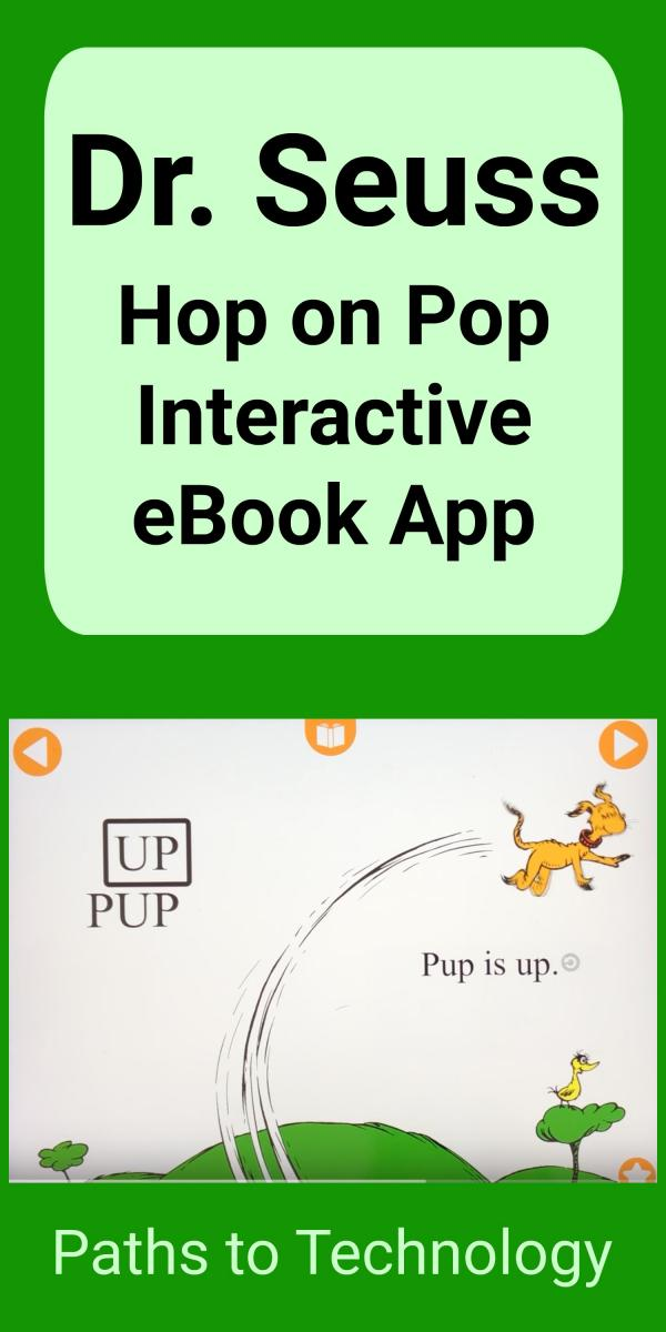 Collage of Dr. Seuss Hop on Pop Interactive eBook app