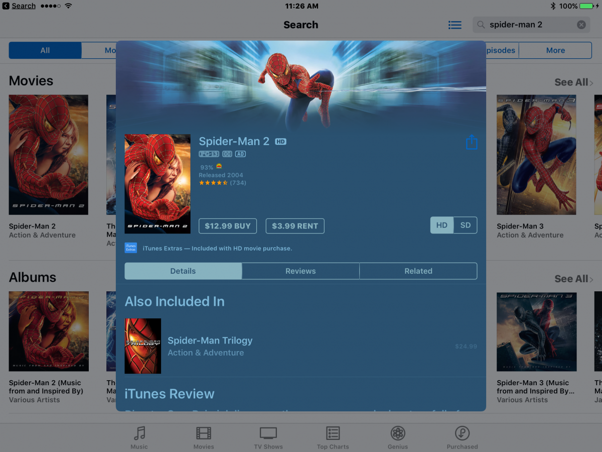 Audio Described iTunes Movies | Paths to Technology
