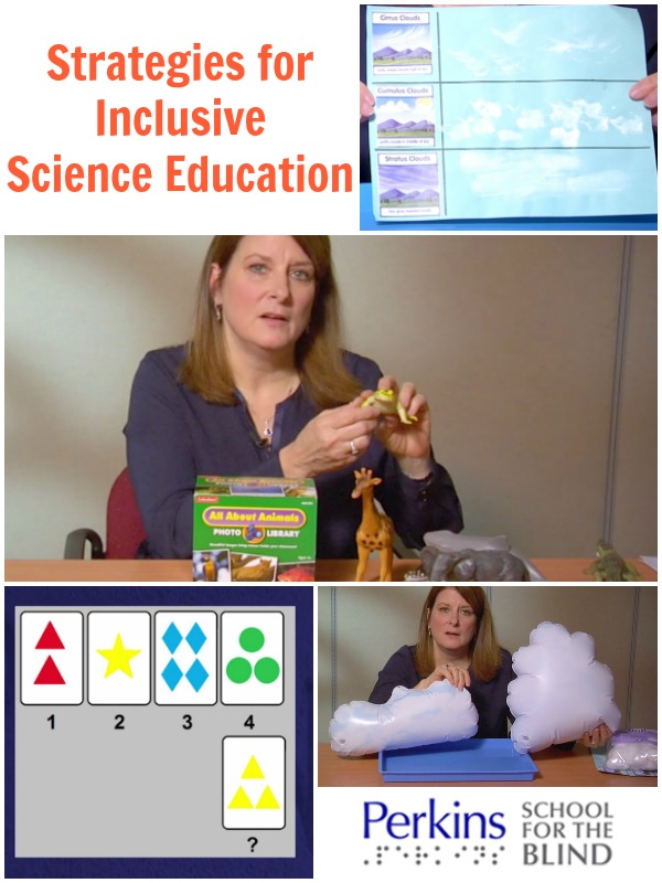 Selma Walsh describes a range of strategies that she has used to include students with visual impairments in science classes.