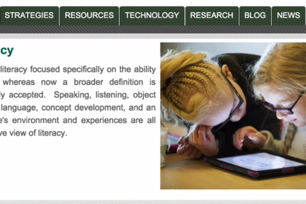 On the homepage of the Paths to Literacy website, several choices of topics to explore are featured, such as strategies, resources, technology.