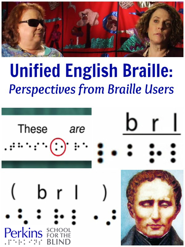 Unified English Braille: Perspectives from Braille Users with Kim Charlson and Joanne Becker.
