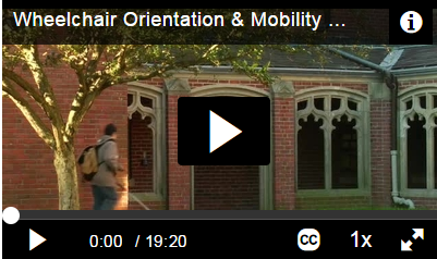 Wheelchair Orientation & Mobility