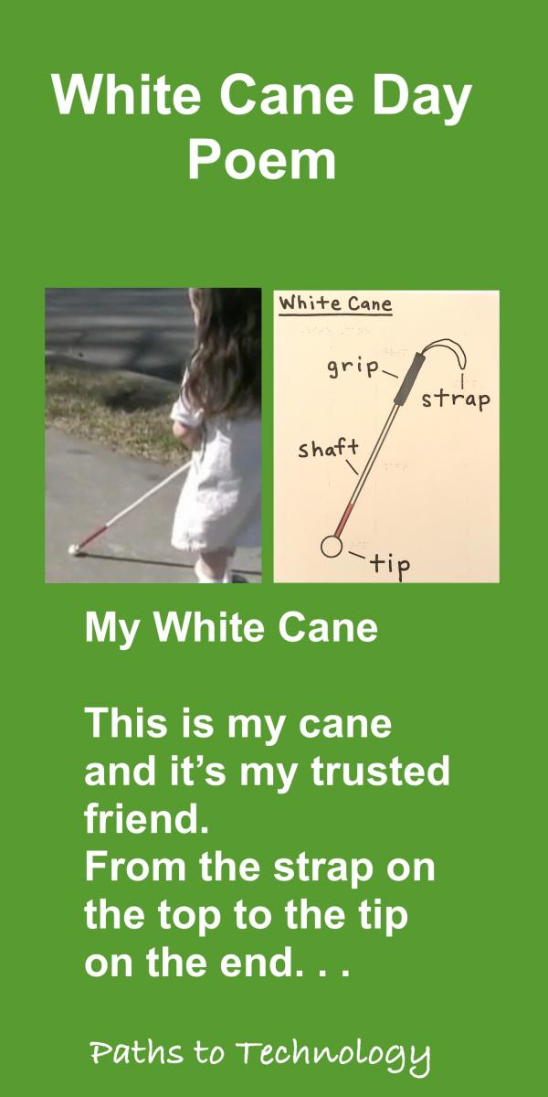 White Cane Day Poem Pinterest tag
