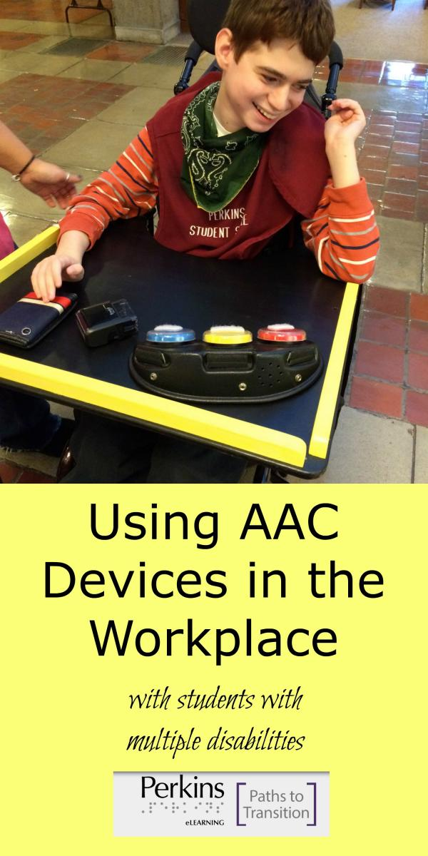 AAC devices in the workplace collage
