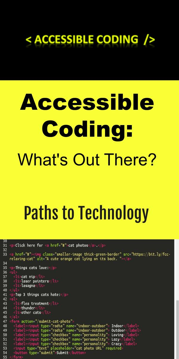 Collage for accessible coding