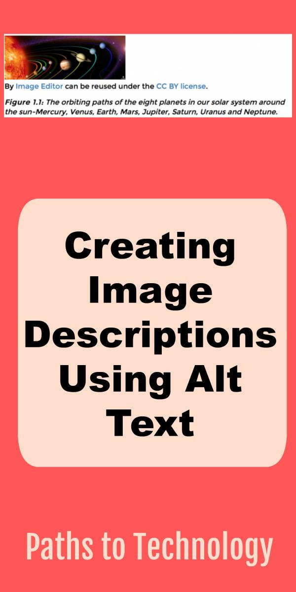 Collage of Creating image descriptions (Alt Text)
