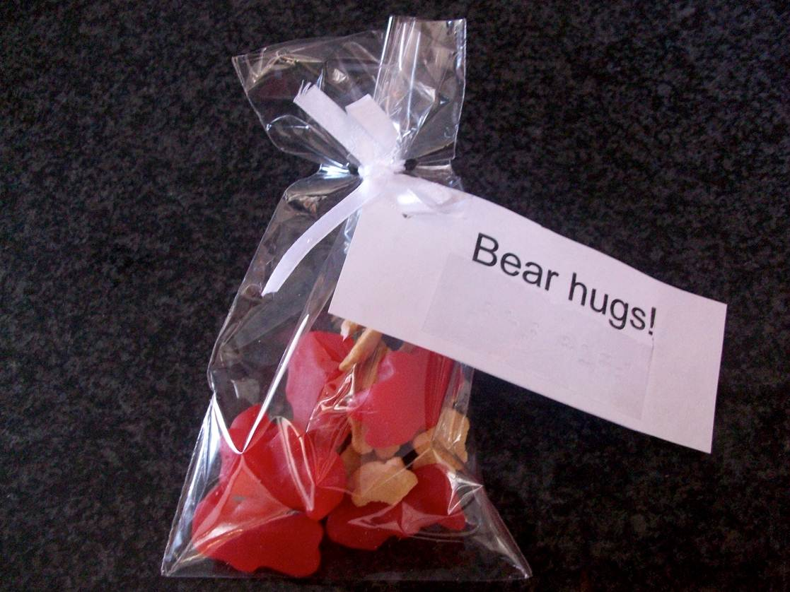 Candy package for valentines gift.