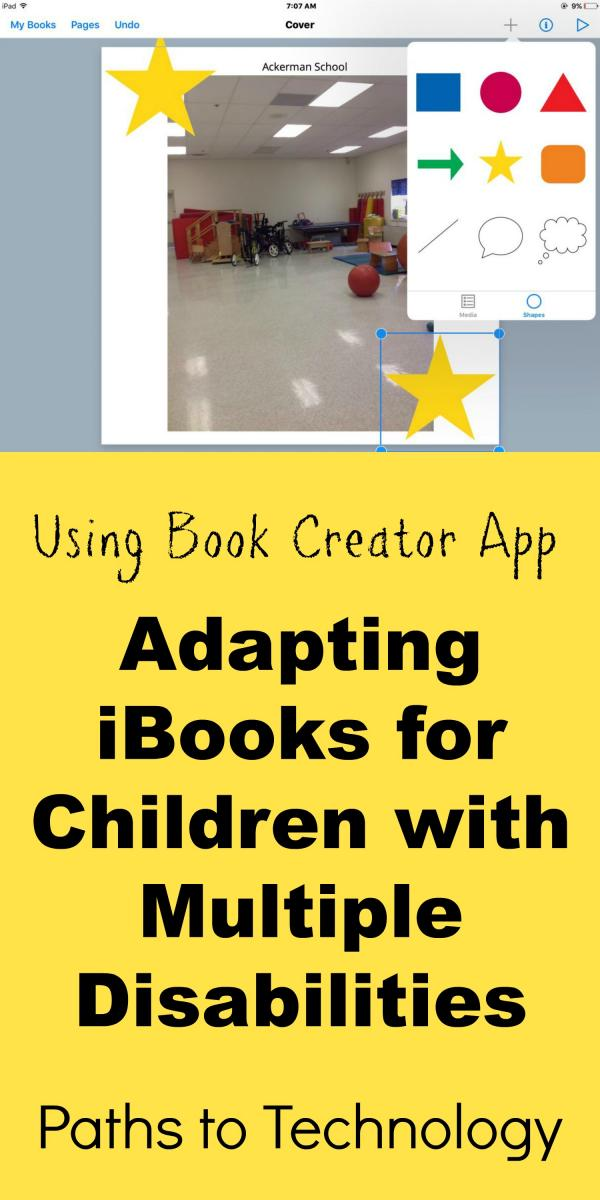 Collage of Using Book Creator App to adapt books