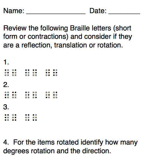braille letters worksheet worksheet 1 finding transformations worksheet