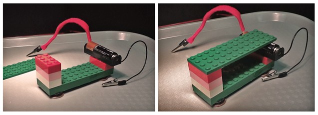 lego platform with battery attached