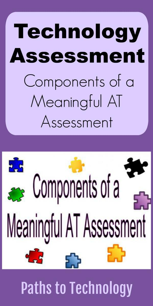Collage of components of a meaningful AT assessment