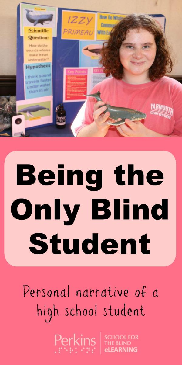 Collage of being the only blind student