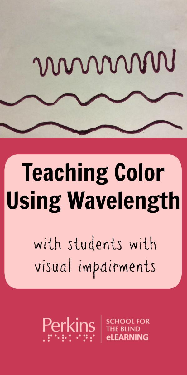 Collage of teaching color using wavelength