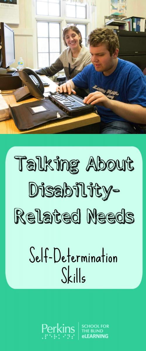 Collage of student using refreshable braille display