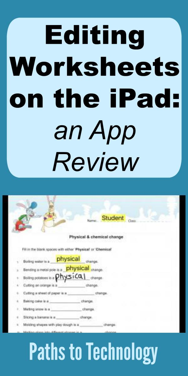 Editing Worksheets on the Ipad: an App Review | Paths to Technology ...