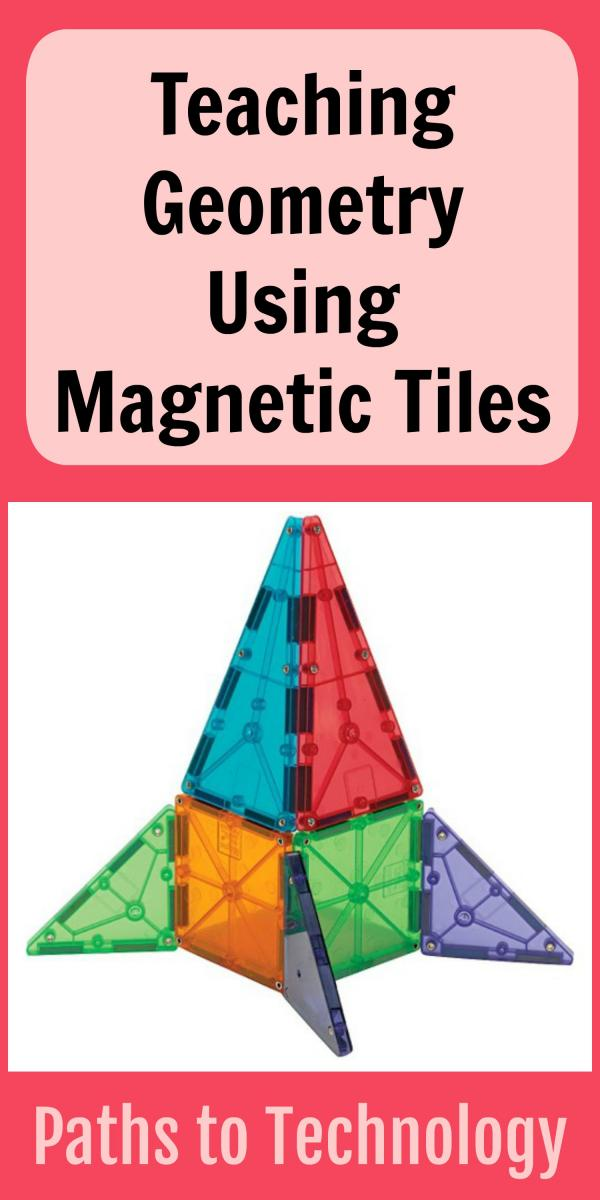 Collage of Teaching Geometry using Magnetic Tiles