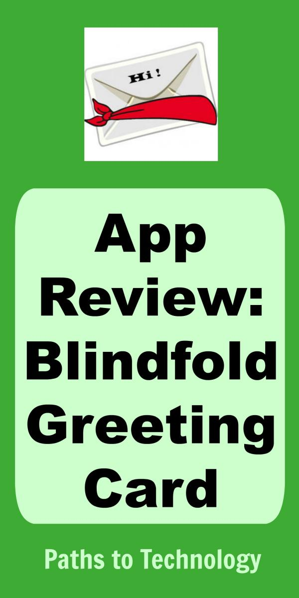 Collage of Blindfold Greeting Card app