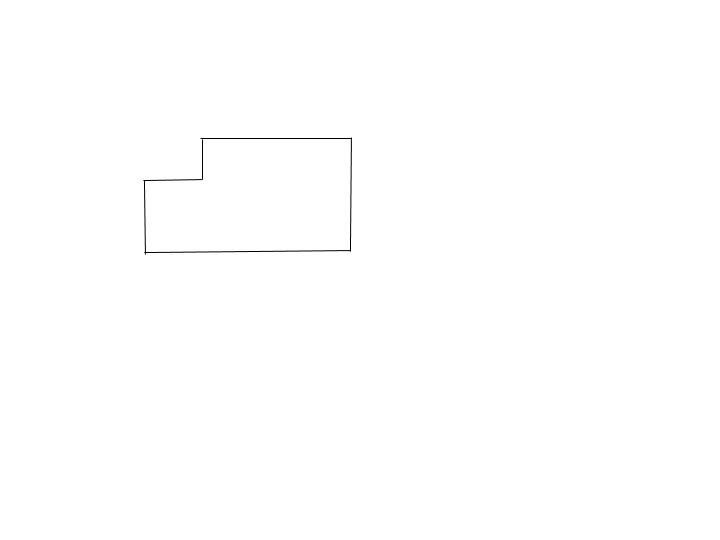 Image of rectangle with corner missing.