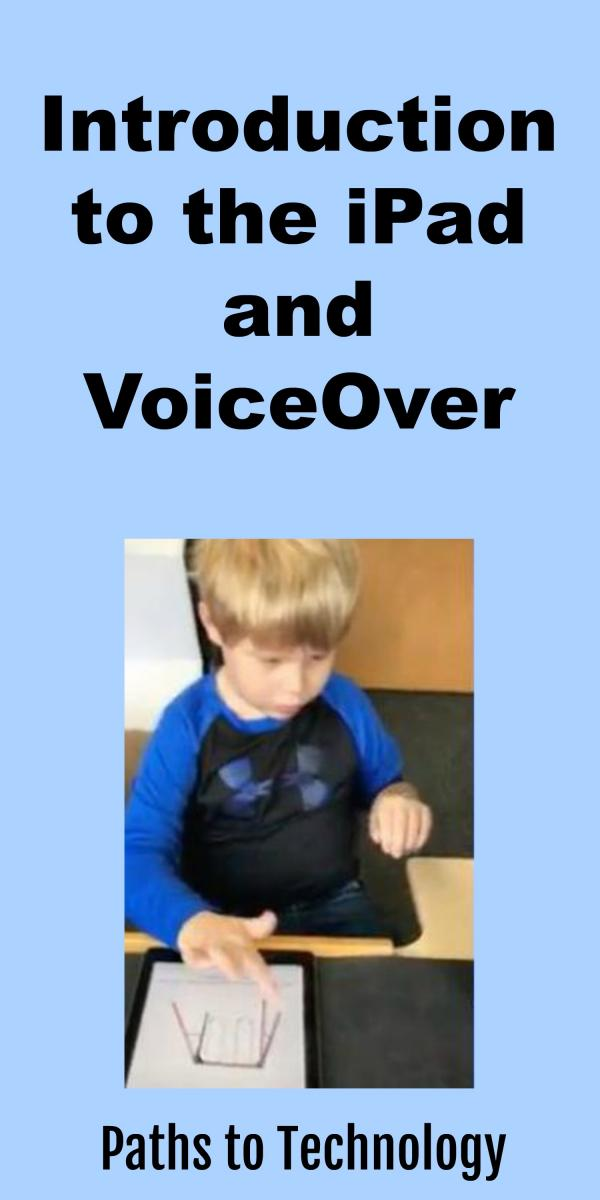 Collage of Introduction to the iPad and VoiceOver