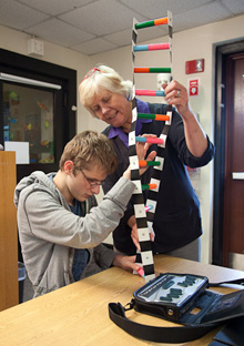 Student explores accessible model