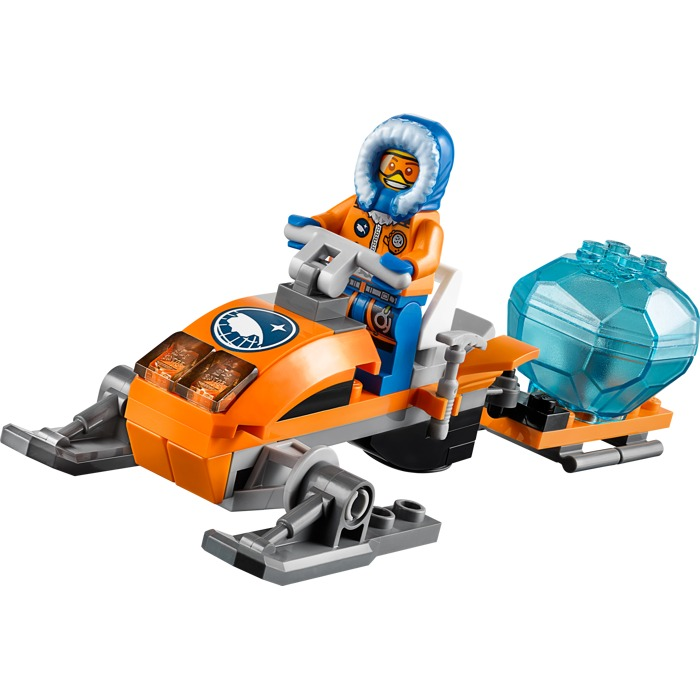 Arctic snowmobile lego design