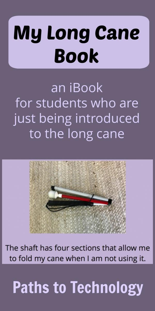 Collage of Long Cane book