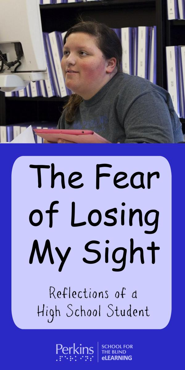 Collage of fear of losing sight