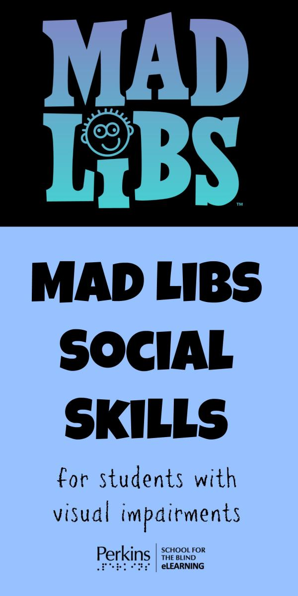 Collage of MadLibs social skills
