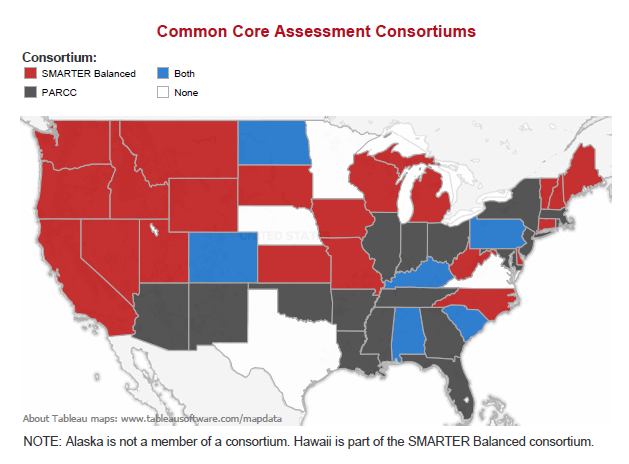 Common Core assessment map